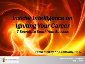 Igniting Your Career 4-23-15